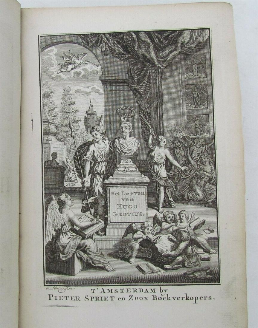 1771 HET LEVEN VAN HUGO DE GROOT ILLUSTRATED antique in