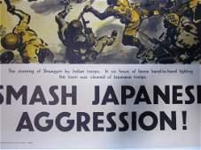 SMASH JAPANESE AGGRESSION -ORIGINAL 1940'S BRITISH WWII
