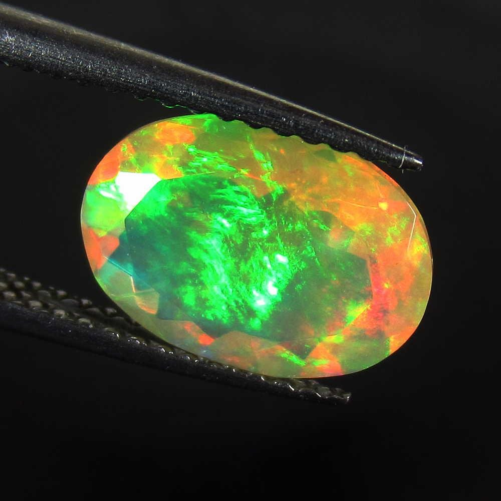 1.77 Ctw Natural Multi-Color Fire Opal Oval Cut