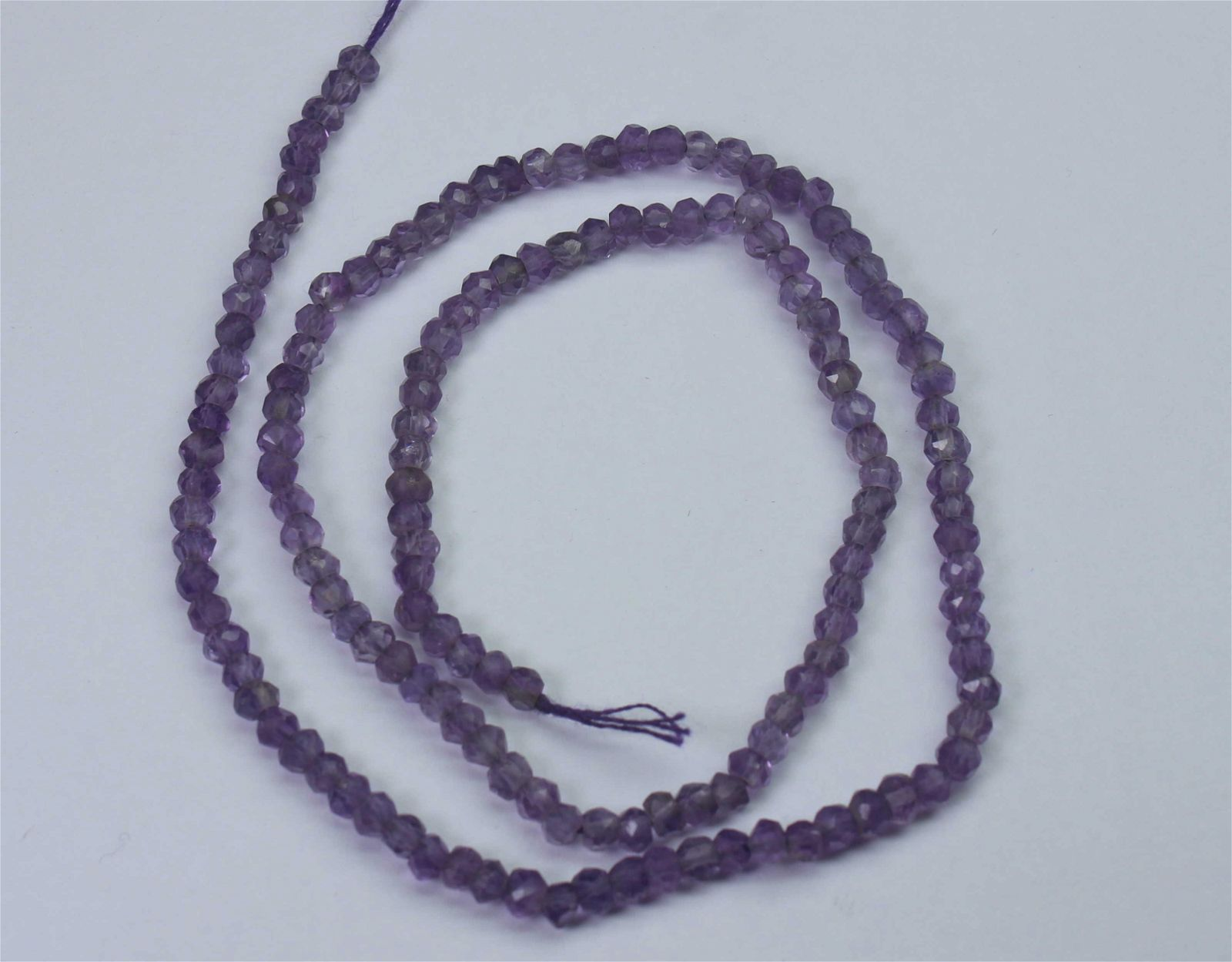 19.00 Ct Natural Amethyst Faceted Beads