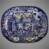 Dark Blue Staffordshire Platter circa 1820