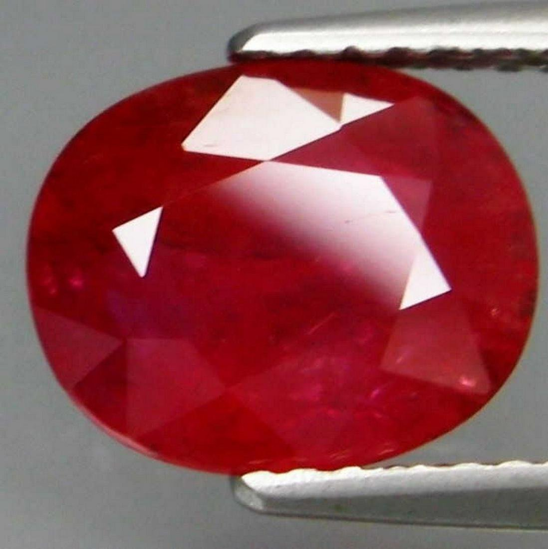 3,10 ct Rare Color Natural Red Sapphire 3,10 ct