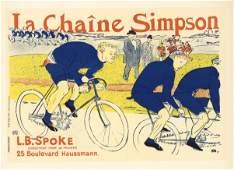 """Toulouse-Lautrec lithograph poster """"La Chaine Simpson"""""""