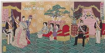 Nobukazu - The Emperor Receiving Guests