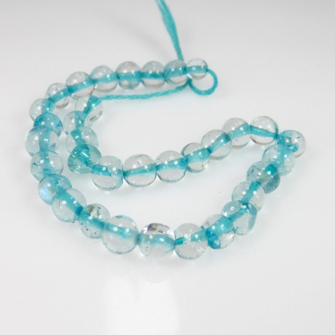 10.34 Ct Genuine 30 Drilled White Topaz Ball Beads