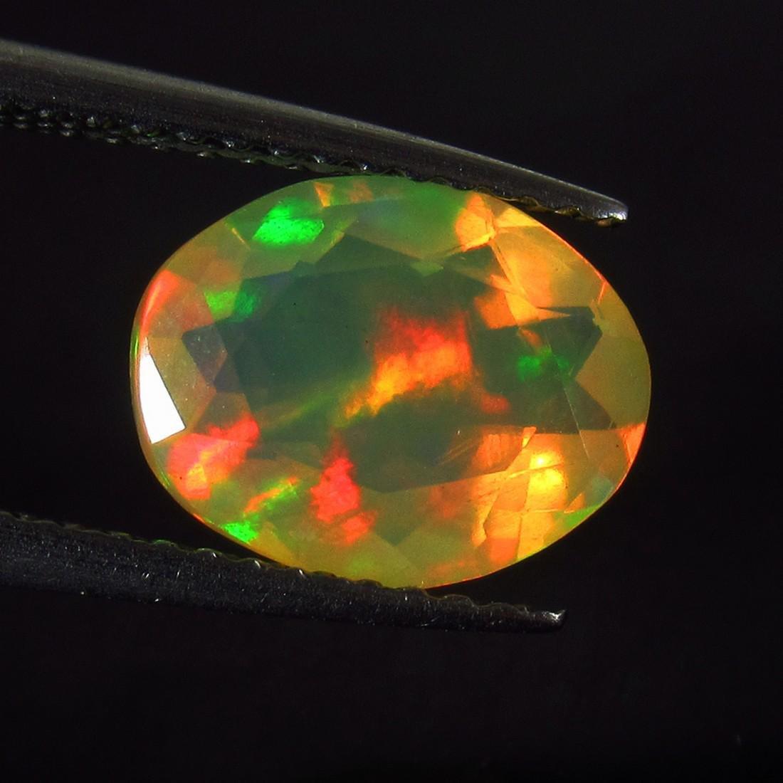 1.43 Ctw Natural Multi-Color Fire Opal Oval Cut