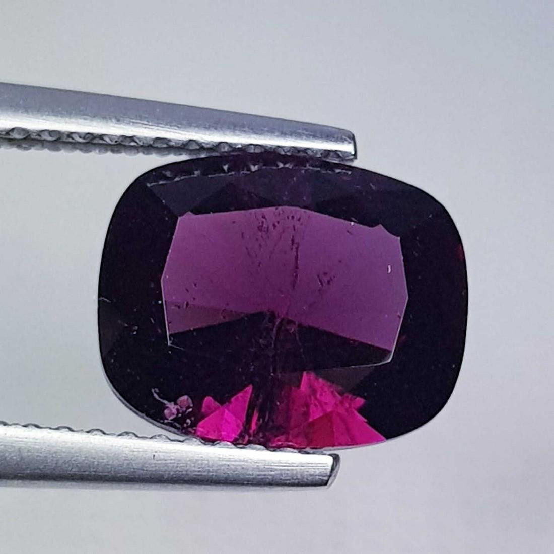 Natural Rhodolite Garnet Cushion Cut 3.23 ct