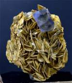 148 Grams Top Grade Bluish Green Color Fluorite Crystal