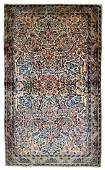Handmade antique Persian Kerman rug 3.1' x 5.2' ( 94cm