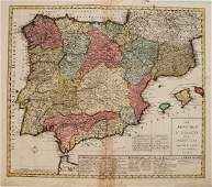 1792 Elwe Map of Spain and Portugal  Les Royaumes