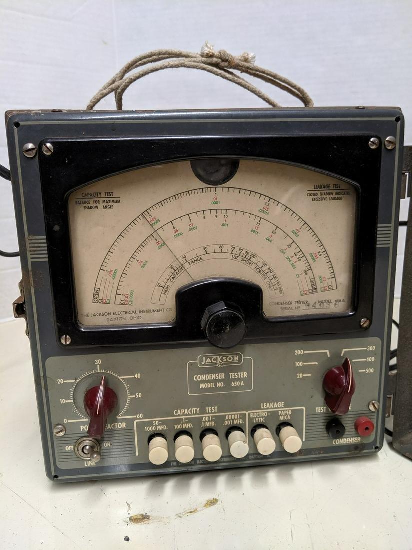 Vintage Jackson Condenser Tester Model 650A
