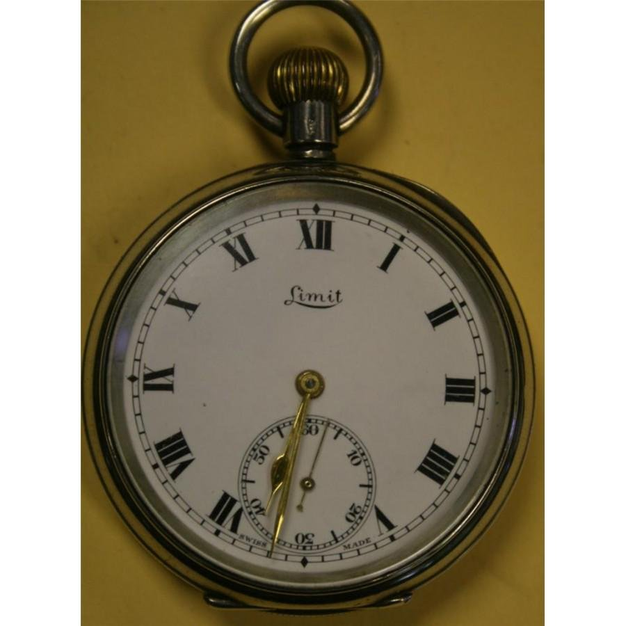 Sterling Silver Limit Early 20th Century Pocket Watch