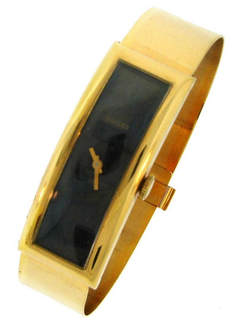 GUCCI Yellow Gold Ladies WATCH Manual Wind Bracelet