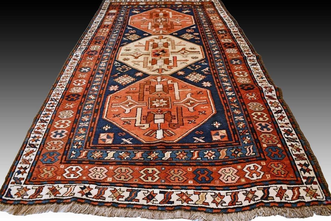 Antique Caucasian Kazak rug - 7.6 x 4.1