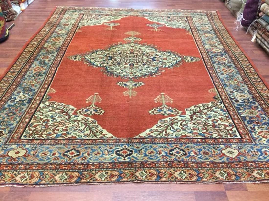 Antique Persian Farahan - Malayer Rug-4092