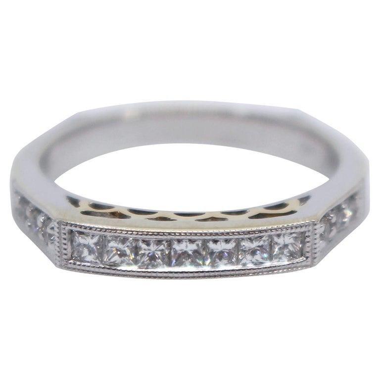 Half Hoop Diamond 14ct White Gold Ring