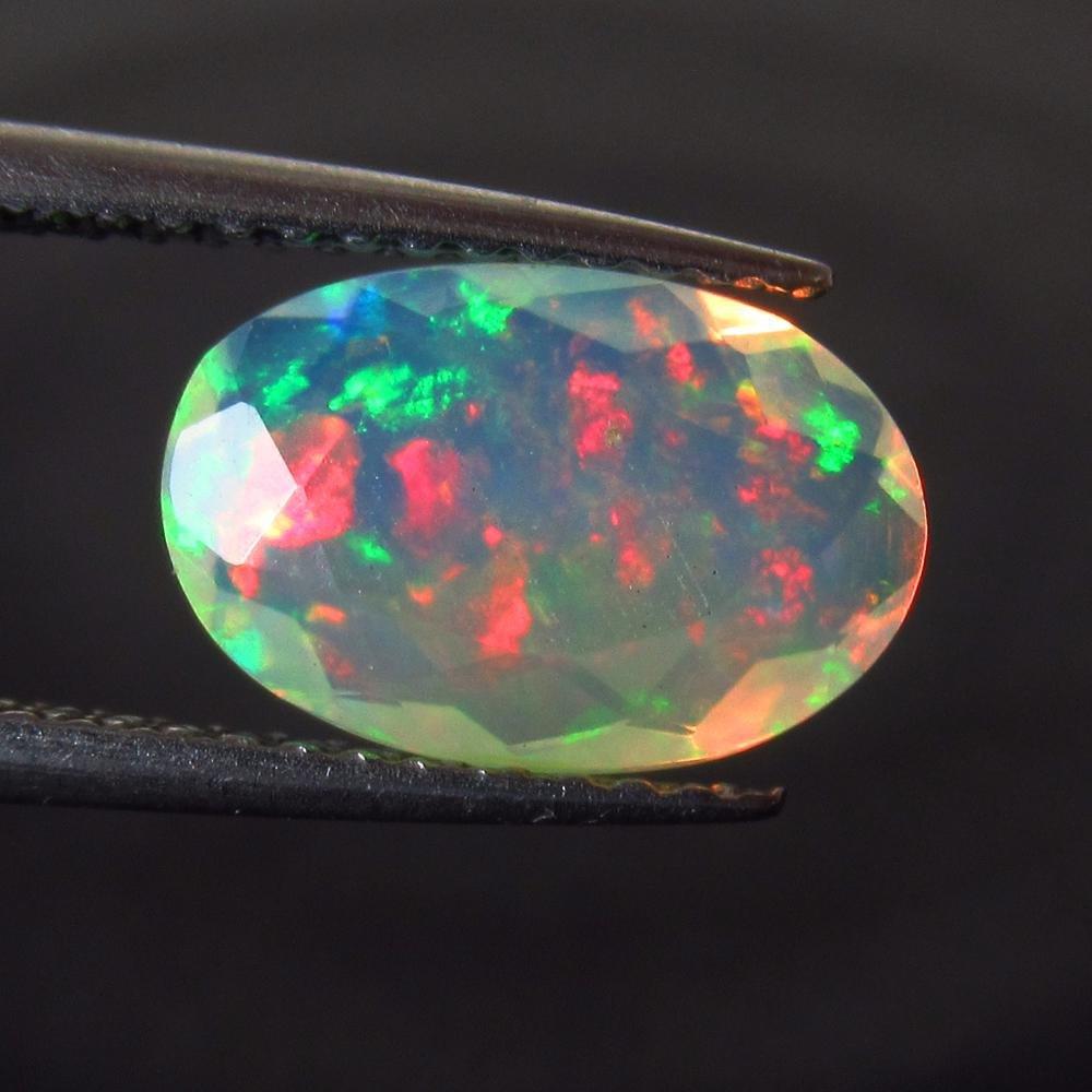 1.48 Ctw Natural Multi-Color Fire Opal Oval Cut