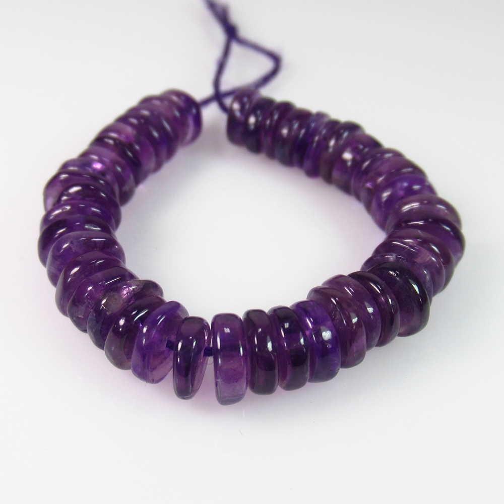 22.84 Ct Genuine 48 Purple Amethyst Drilled Round Beads