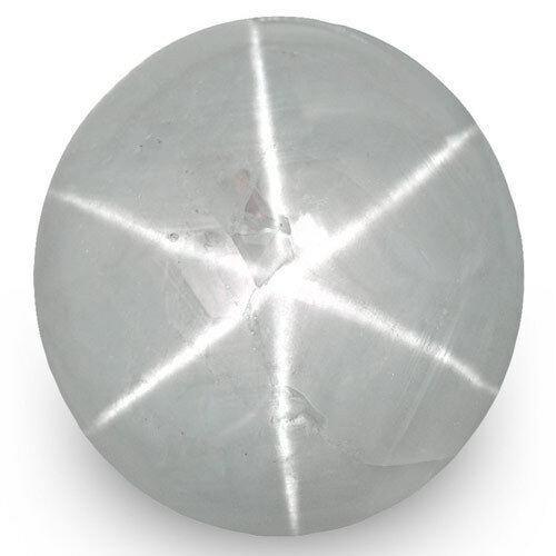 7.94-Carat Bluish Grey Star Sapphire from Ceylon (Sharp