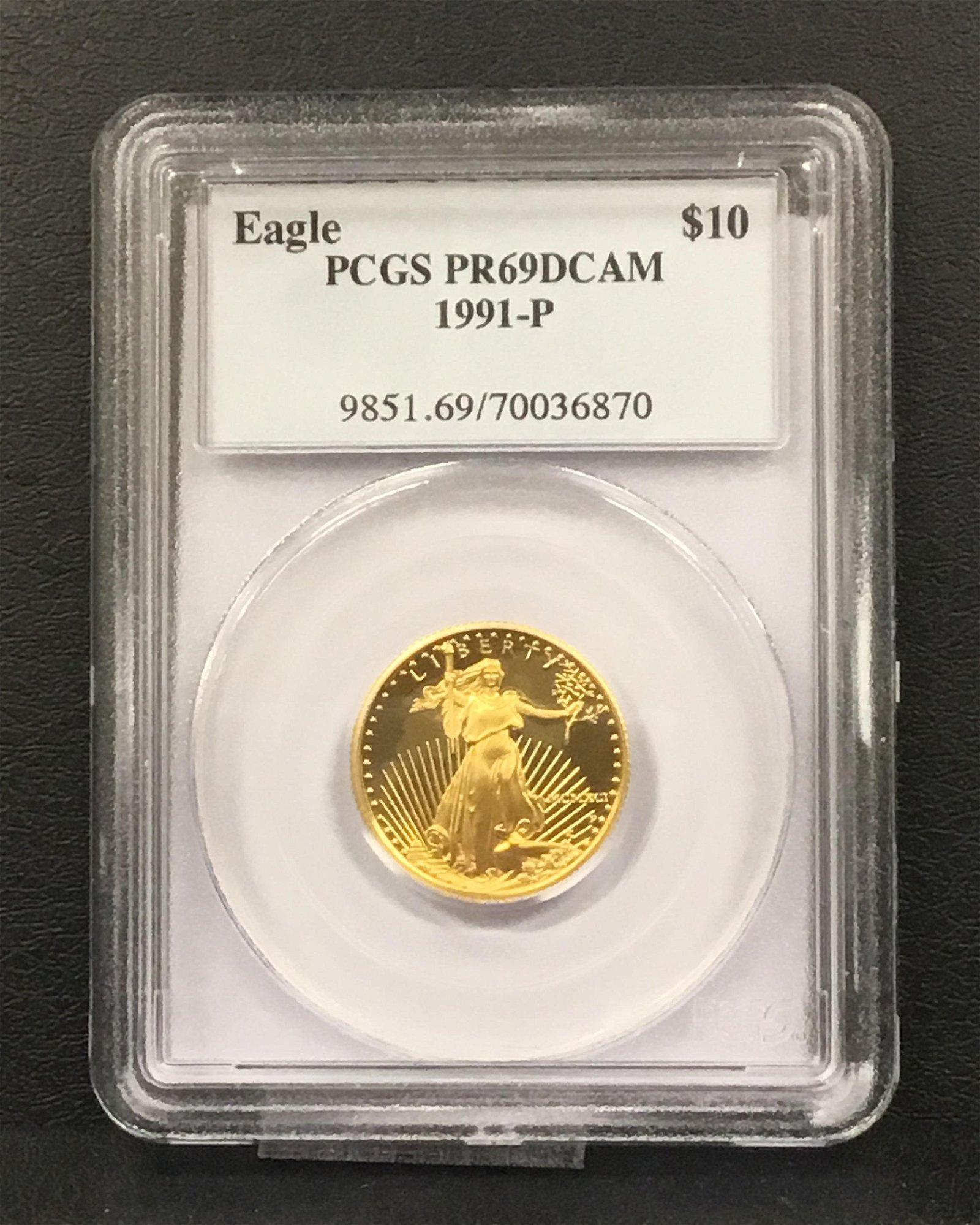 1991-P 1/2 oz Proof Gold American Eagle