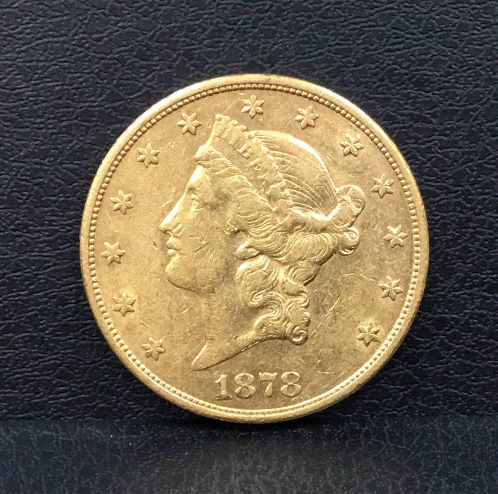 1878 Liberty Head Double Eagle ~ Type 3