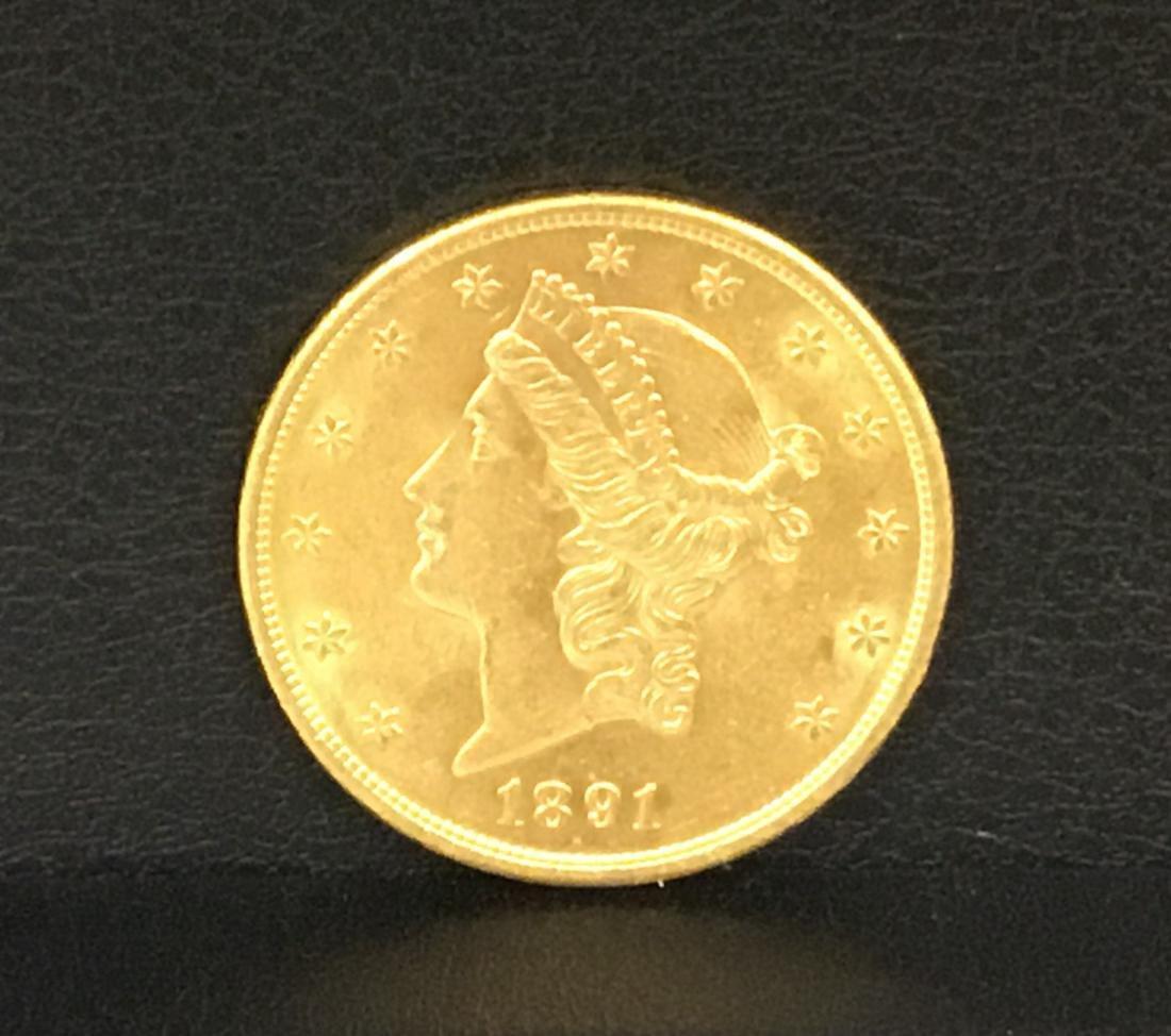 1891-S Liberty Head Double Eagle