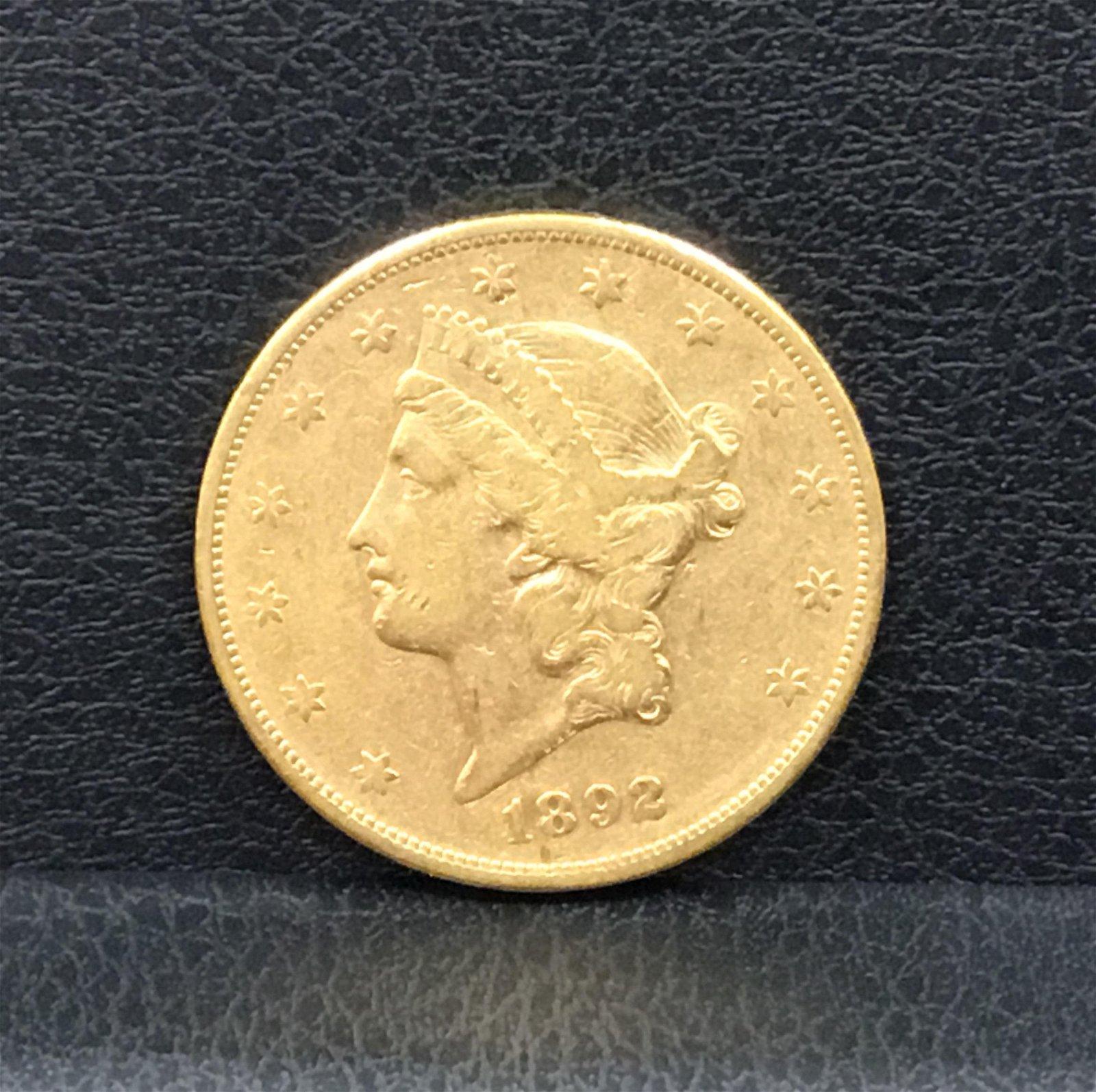 1892-S Liberty Head Double Eagle