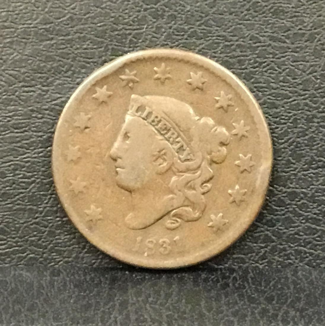 1831 Liberty Head Large Cent