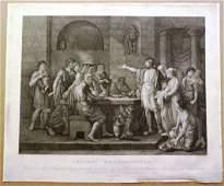 c1790 Beautiful Engraving Lebarbiere Plutarch