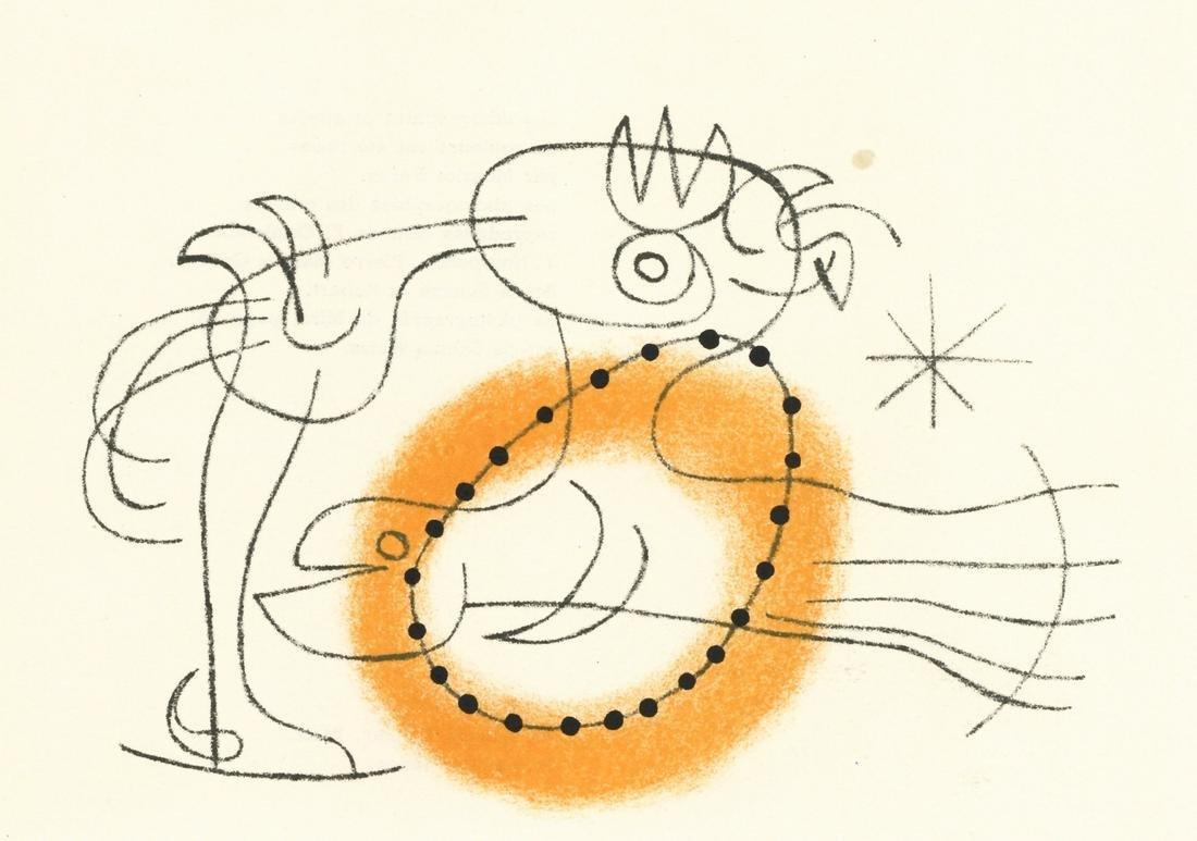 Joan Miro original lithograph, 1956