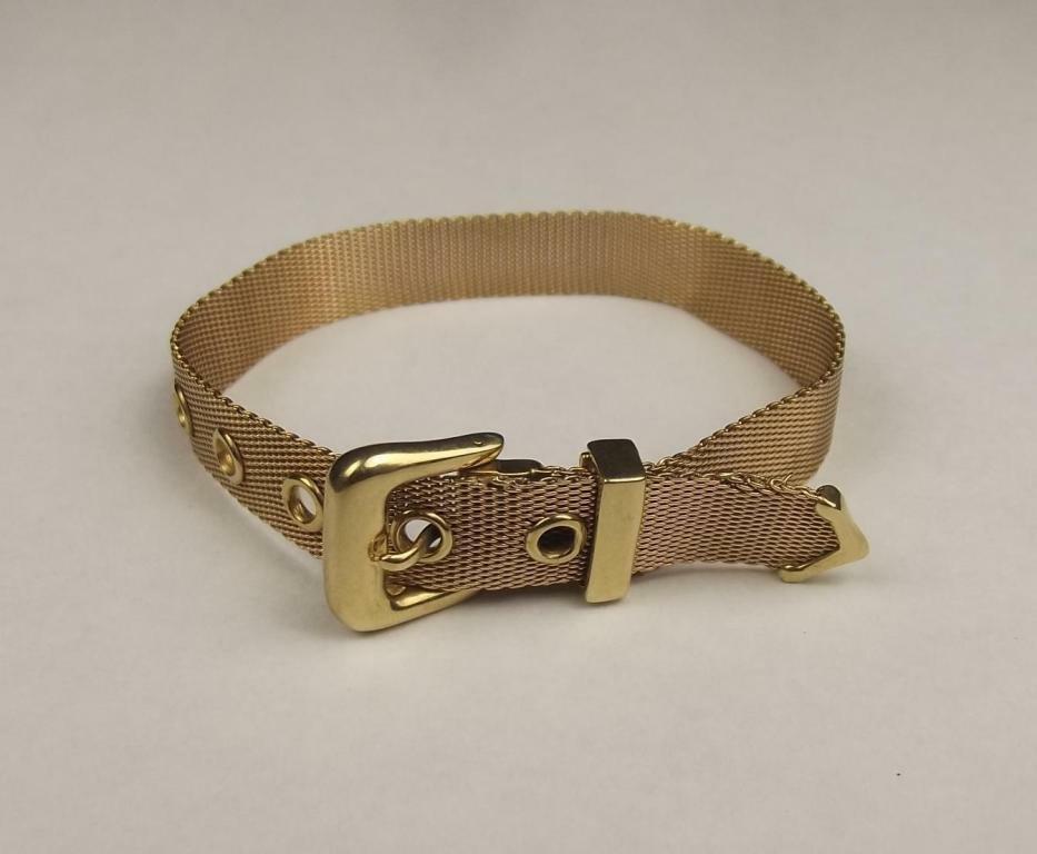 9ct Yellow Gold Mesh Bracelet