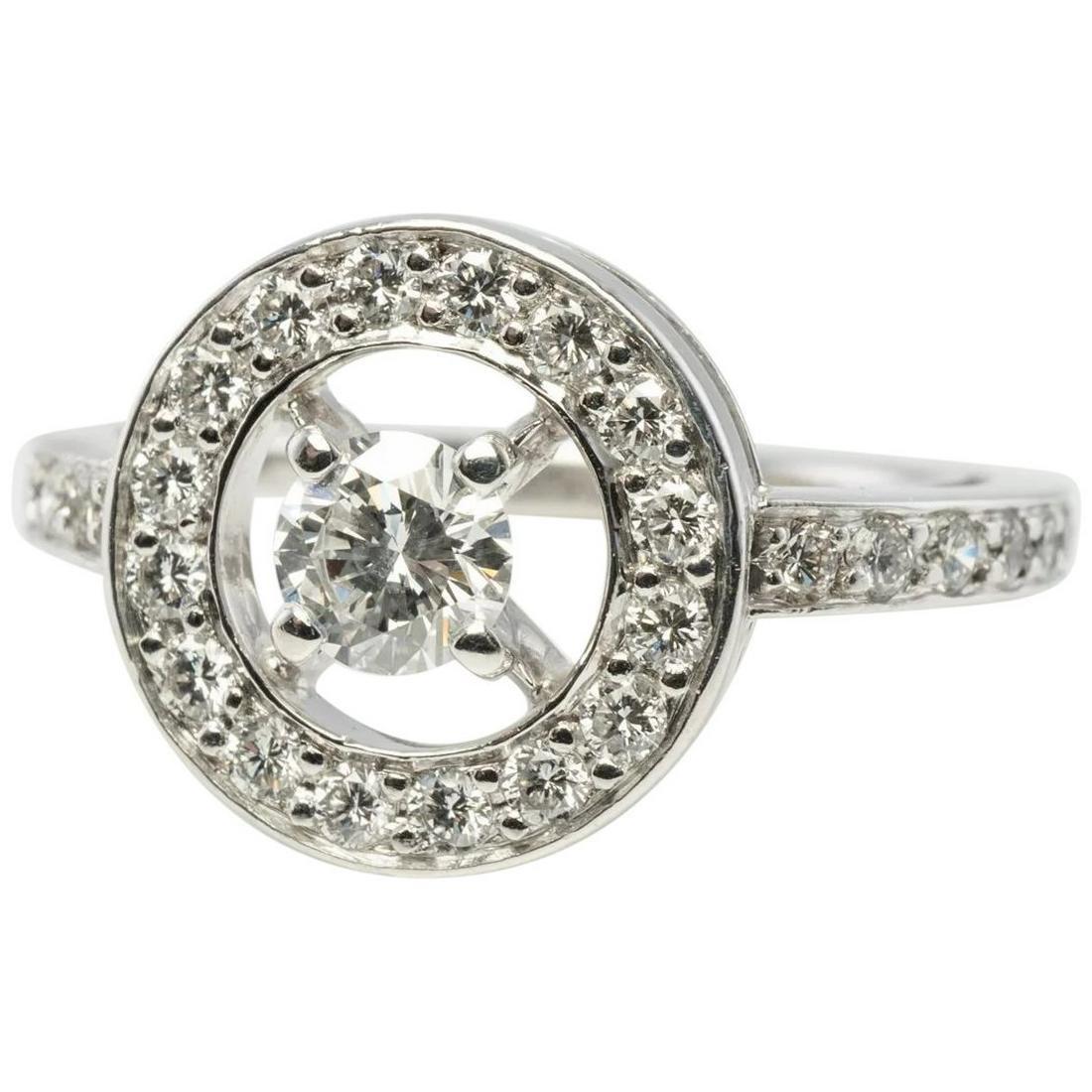 Boucheron Diamond Ring PRG29652 sz 50 18K White Gold