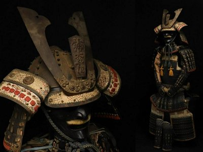 Japanese samurai armor from a Japanese dojo Osaka