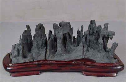 Old Chinese YULAN SCHOLAR'S ROCK mountain range