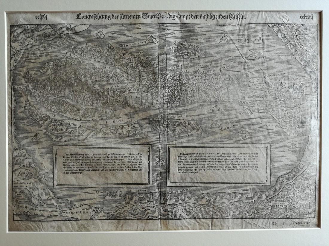 1549 View of Venice / Contrasehtung der furnemen Statt