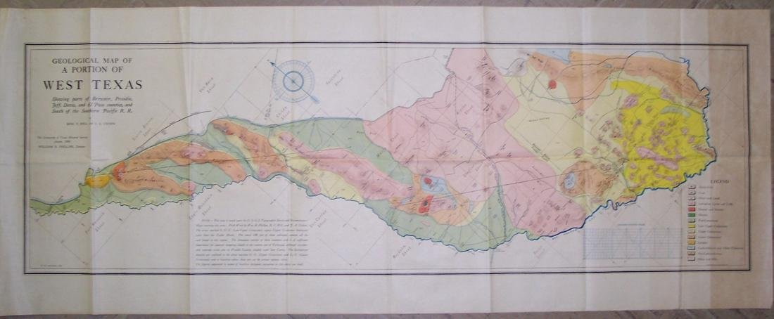 Geologic Map of a Portion of West Texas