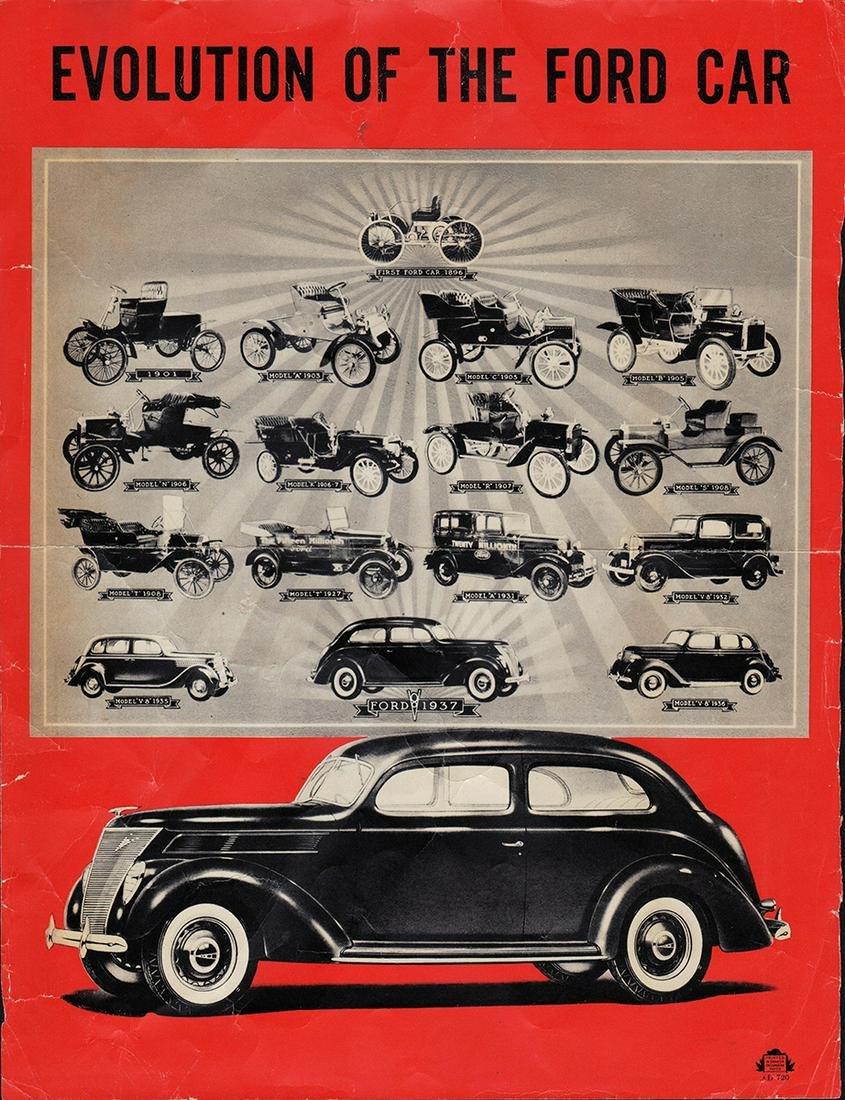 Scarce orig. 1937 Ford ad