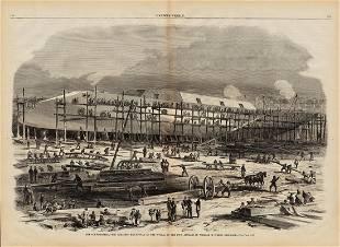 Orig woodcut of Ironclad Dunderberg 1863