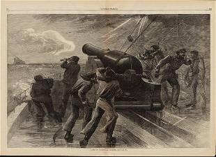 Orig Blockade Runner woodcut 1863