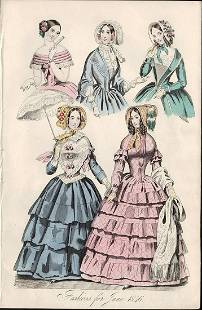 Fashion from June 1846 Belle Assemblee