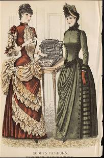 Fashion from early 1885 Godeys