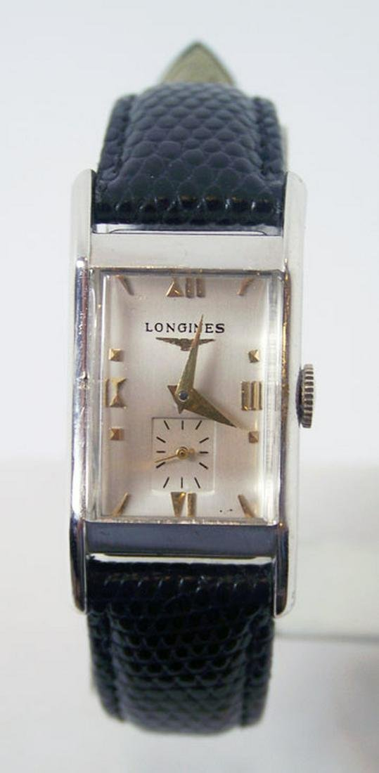 Vintage 14k White Gold LONGINES Winding Watch c.1940s