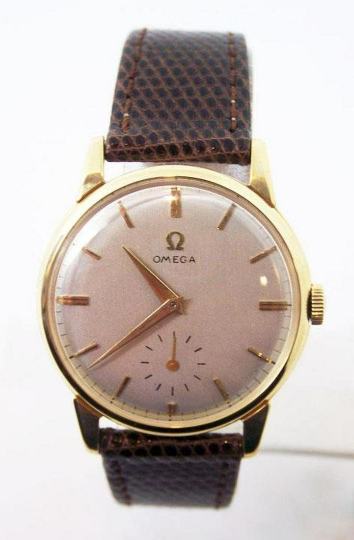 Vintage 18k Gold OMEGA Winding Watch 2894 c.1950s Cal
