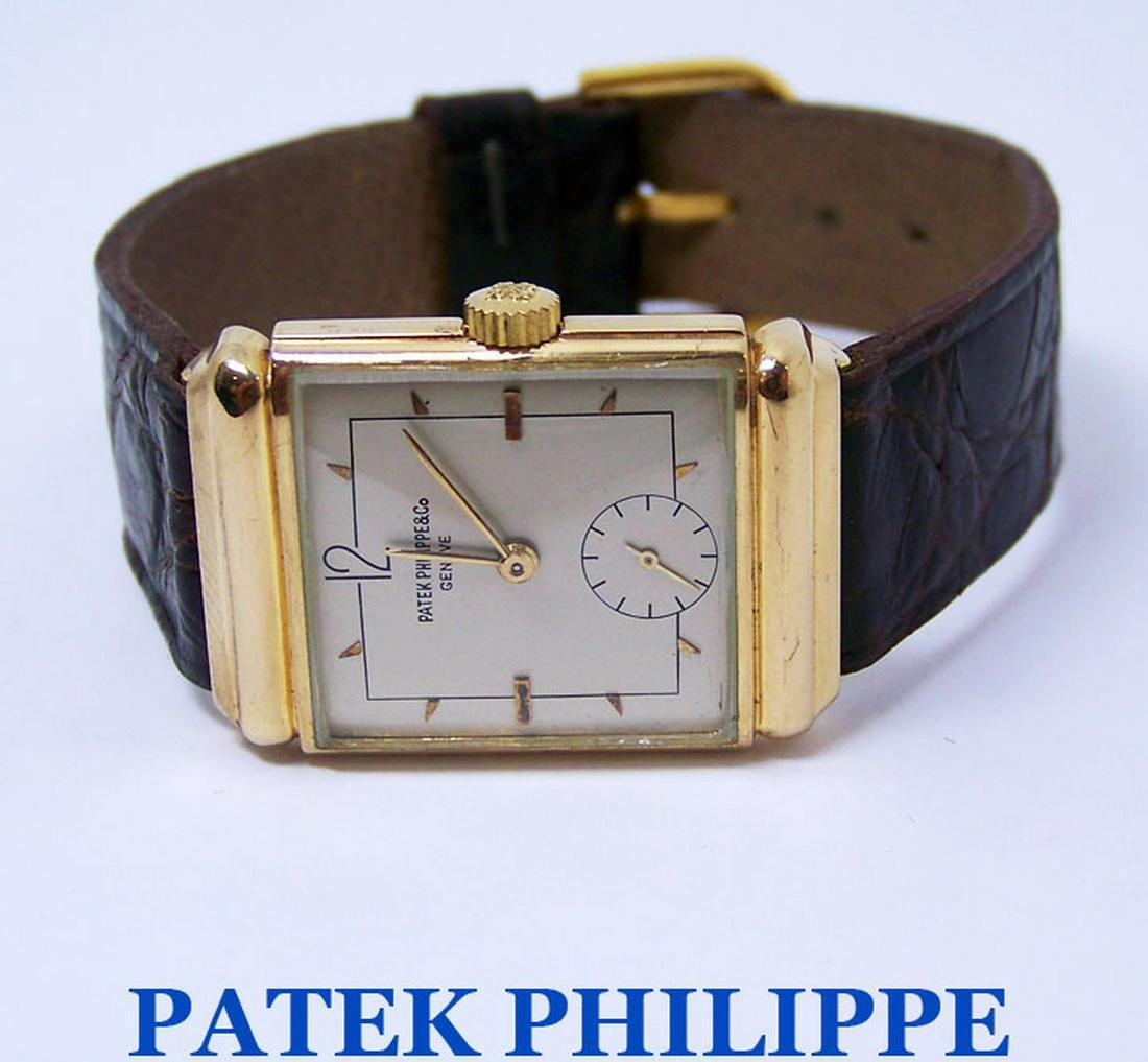 Vintage 18K PATEK PHILIPPE Mens Winding Watch 1940s*