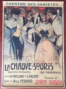 LA CHAUVE SOURIS ORIGINAL 1904 FRENCH THEATRE LB
