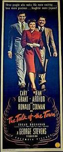 Talk Of The Town Cary Grant 1942 US Insert Movie