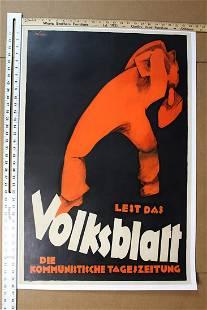 Volksbaltt 365 x 24 Art by Peter Laszlo Peri 1926