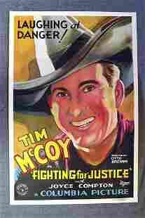 Fighting For Justice Tim McCoy 1932 US One Sheet