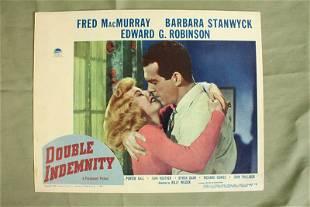 Double Indemnity Stanwyck Robinson 1944 US Lobby