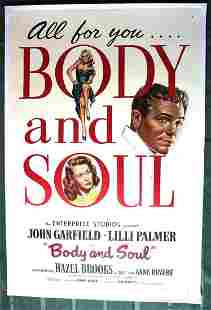 Body and Soul 19311 Sheet Movie Poster